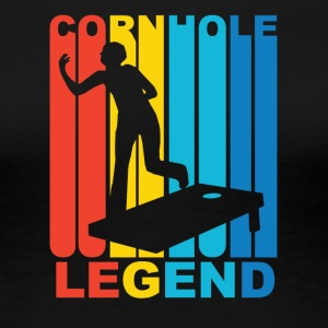 Vintage Cornhole Legend Graphic - Women's Premium T-Shirt