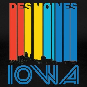 Retro Des Moines Iowa Skyline - Women's Premium T-Shirt