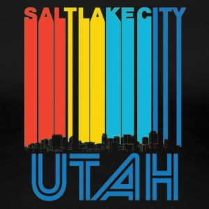 Retro Salt Lake City Utah Skyline - Women's Premium T-Shirt