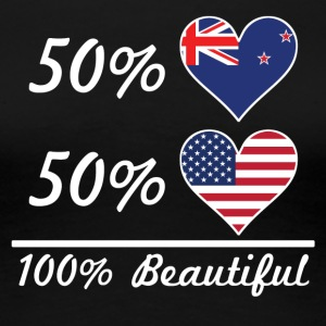 50% Kiwi 50% American 100% Beautiful - Women's Premium T-Shirt