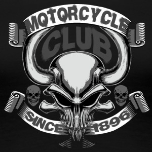 horns skull motorcycle club vector cool art image - Women's Premium T-Shirt