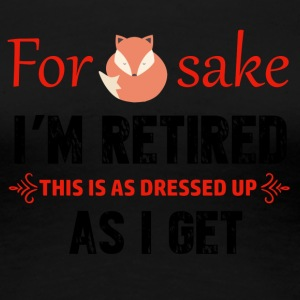 Funny Retired designs - Women's Premium T-Shirt