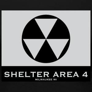 ShelterArea4 wallpaper gray - Women's Premium T-Shirt