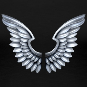 silver-angel-wings - Women's Premium T-Shirt