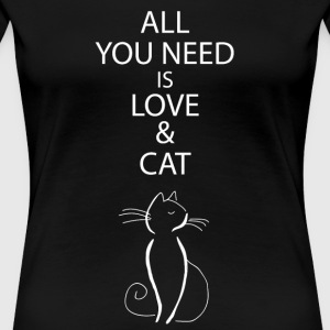 Cat T-Shirt for Catowner present woman catlove - Women's Premium T-Shirt