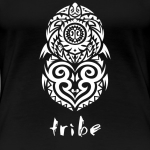Tribe (Hawaii in White) - Women's Premium T-Shirt