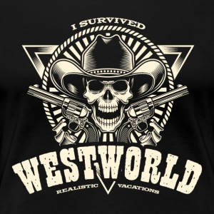 I Survived Westworld - Women's Premium T-Shirt