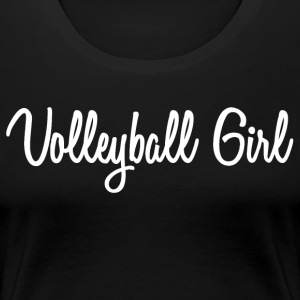 Cursive Volleyball Girl - Women's Premium T-Shirt