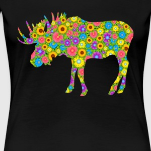 Moose Flower Shirt - Women's Premium T-Shirt