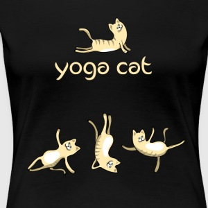 yoga Cat namaste shiva woman fun buddha cute humor - Women's Premium T-Shirt