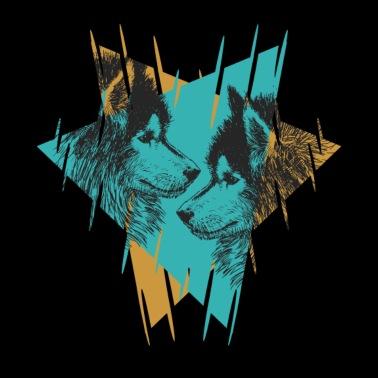 Part Wolf Wolves Spiritual Animal Badass Gift Women's Premium