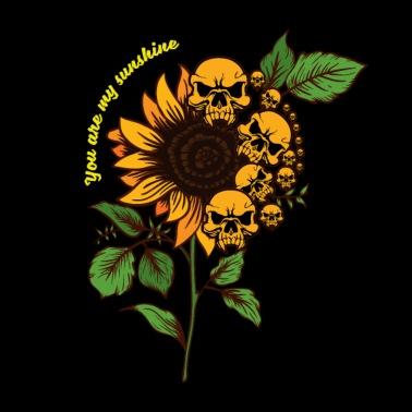 You Are My Sunshine Skull Sunflower Funny Lover Women's