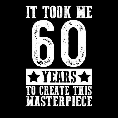 60th Birthday Gift for Men and Women Born in 1959 Women's Maternity T-Shirt  - black