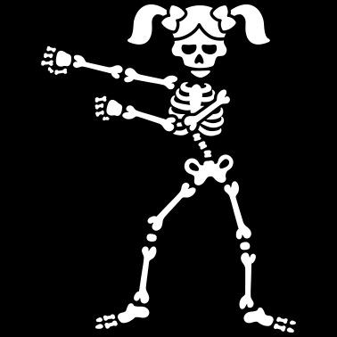 96785b7a Floss like a boss Flossing skeleton girl tails - Women's Premium T-Shirt