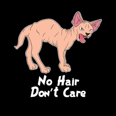 Sphynx Cat: No hair don´t care cat lover gift idea Women's