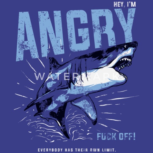 d5b978f2 Animal Angry Shark Slogan - I'm Angry Fuck Off!!! Women's Premium T ...