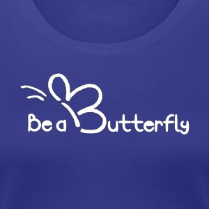 Be a Butterfly Logo - Women's Premium T-Shirt