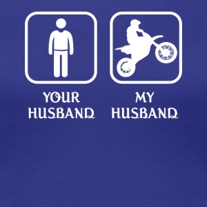 Husband Motor Sports Love- cool shirt,geek hoodie - Women's Premium T-Shirt