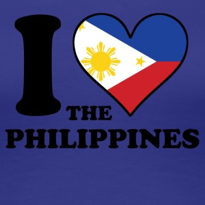 I Love the Philippines Filipino Flag Heart - Women's Premium T-Shirt