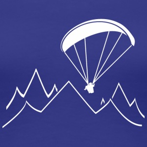 paragliding mountain - Women's Premium T-Shirt
