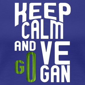 vegan t shirt Keep calm and go vegan - Women's Premium T-Shirt
