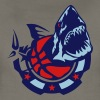 basketball club shark logo design 2 802 - Women's Premium T-Shirt