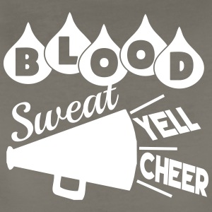 Blood Sweat Yell Cheer - Women's Premium T-Shirt