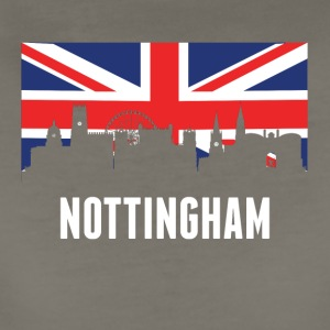 British Flag Nottingham Skyline - Women's Premium T-Shirt