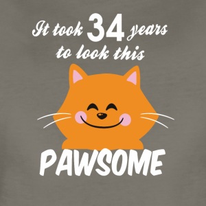 It took 34 years to look this pawsome - Women's Premium T-Shirt