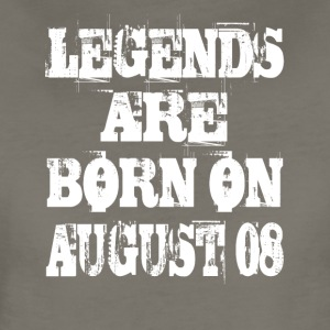 Legends are born on August 08 - Women's Premium T-Shirt