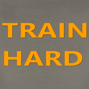 TRAIN HARD ORANGE - Women's Premium T-Shirt