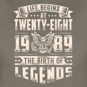 Life Begins at Thirty-Eight Legends 1989 for 2017 - Women's Premium T-Shirt