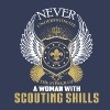 Scouting skills-Never underestimate woman with it - Women's Premium T-Shirt