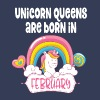 Unicorn Queens are born in February - Women's Premium T-Shirt