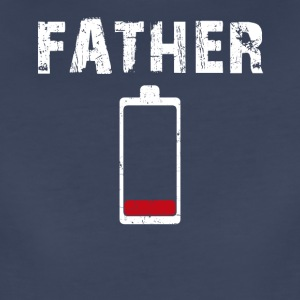 Men's Tired Father Low Battery - Women's Premium T-Shirt
