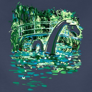 Water Lilies and Nessy - Women's Premium T-Shirt
