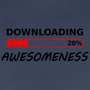 downloading awesomeness tshirt - Women's Premium T-Shirt