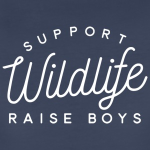 Support Wildlife raise boys - Women's Premium T-Shirt