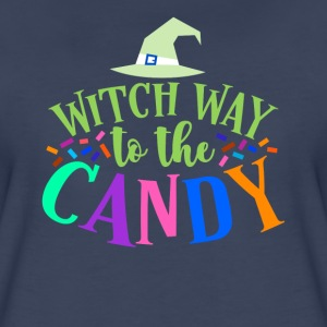 Witch Way To The Candy Halloween Funny Humor Color