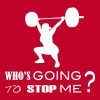 who's going to stop me - weightlifting - Women's Premium T-Shirt