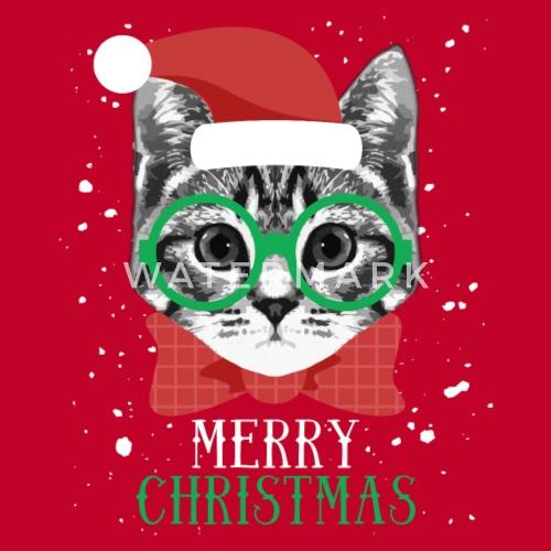 merry christmas cat t shirt by ninjashadow spreadshirt - Merry Christmas Cat