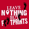 leave nothing but footprints - Women's Premium T-Shirt