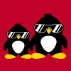 Cool Penguin Dad And Boy - Women's Premium T-Shirt