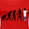 evolution of woman Chemist, biologist, physicist - Women's Premium T-Shirt