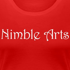 Nimble Arts LOGO white - Women's Premium T-Shirt