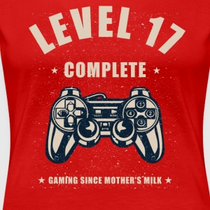 Level 17 Complete Video Gaming T Shirt - Women's Premium T-Shirt