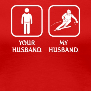 Husband Skiing Love- cool shirt,geek hoodie,tank - Women's Premium T-Shirt