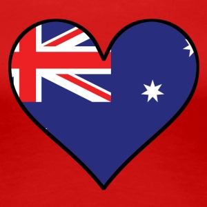 Australian Flag Heart - Women's Premium T-Shirt
