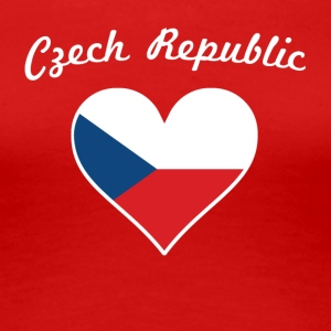 Czech Republic Flag Heart - Women's Premium T-Shirt