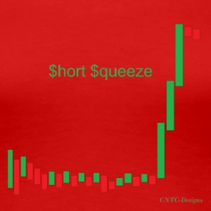 Short squeeze bar graph - Women's Premium T-Shirt